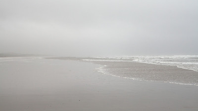 Grey irish beach.
