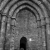 An doorway of Cong abbey - a ruin that dates back to 1128.