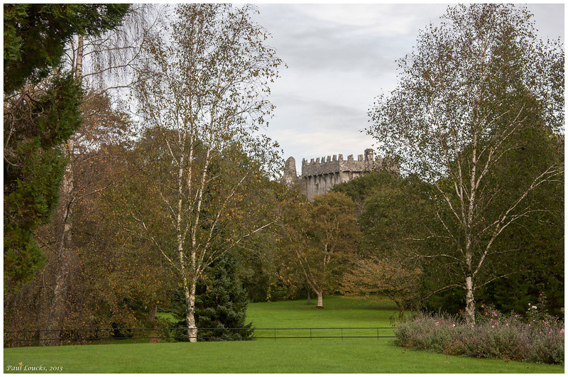 View of the castle motte from Blarney House