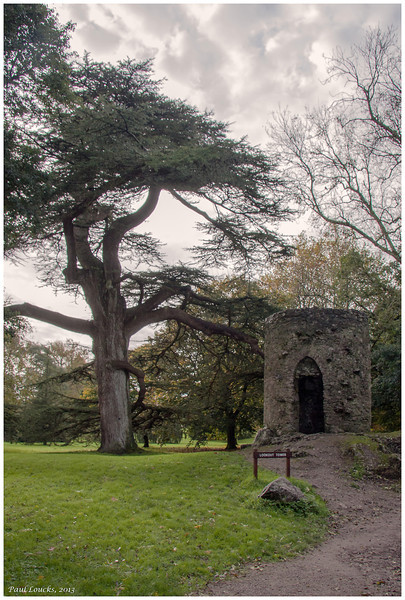 Park between Blarney Castle and Blarney House with small lookout tower