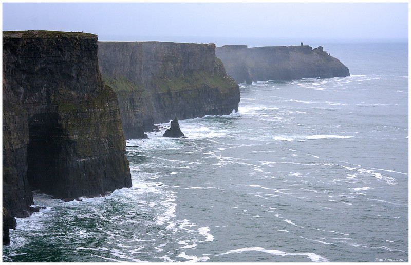 Expanse of the Cliffs of Moher looking southwest.