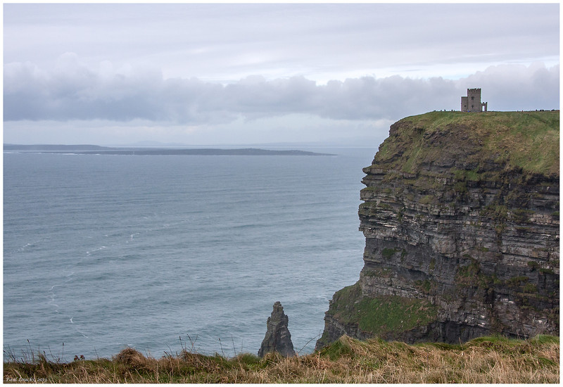 Looking across Galway Bay from the Cliffs of Moher to the Aran Islands and the Connemara.