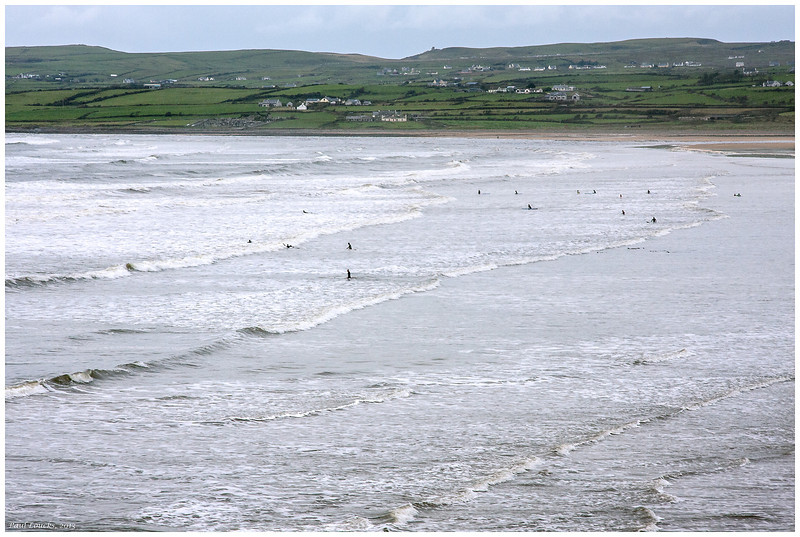 Swimmers at Lehinch in November.