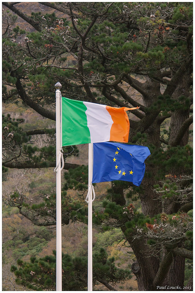 At last, a clear photo of the flag of the Republic of Ireland...