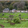 Panoramic view of the Walled Gardens at Kylemore Abbey.
