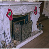 Fireplace at Kylemore Abbey arranged for Xmas...