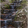 A gentle waterfall on the trail to the chapel,
