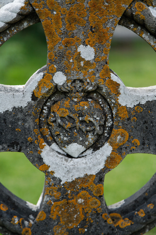 Tombstone detail, Glendalough