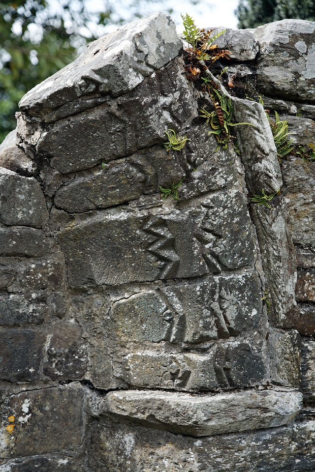 Wall detail, Glendalough