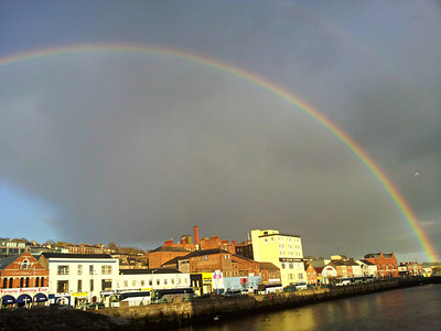 Rainbow over Cork City