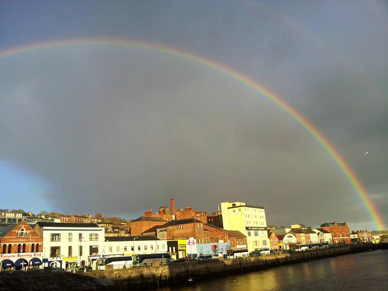 Rainbow over Cork City