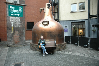 Ann outside the Old Jameson Distillery