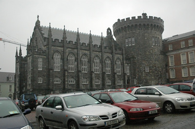 Part of the old Dublin Castle.  More rainy Dublin.