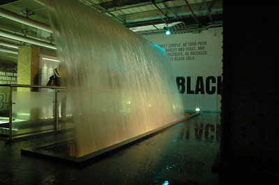 The waterfall inside the Guinness Brewery