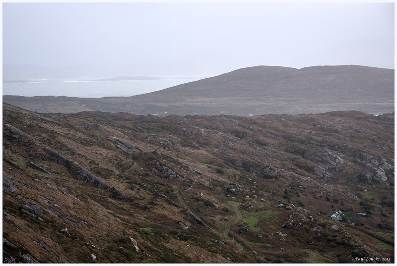 A partial view of Valentia Island (in the background) on the Iveragh Peninsula