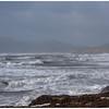 Storm-tossed shoreline