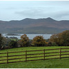 View from above Killarney looking out beyond Lough Leane to the Iveragh Peninsula