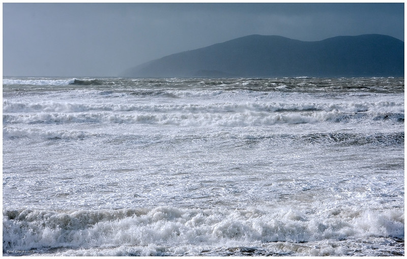 Storm surge rushing into Waterville Bay.