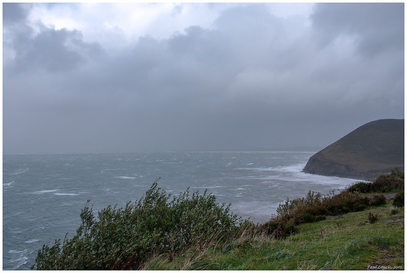 Another view of the stormy Atlantic with the Dingle Peninsula across the bay.
