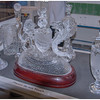Examples of golf trophies, a speciality of Waterford Crystal, and highly prized