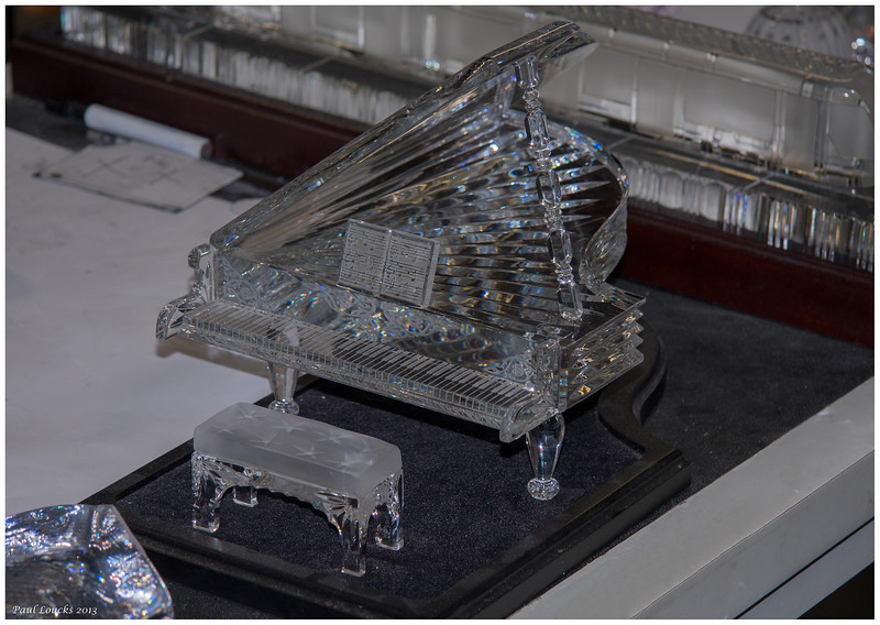 Grand piano sculpted by the Waterford artisans