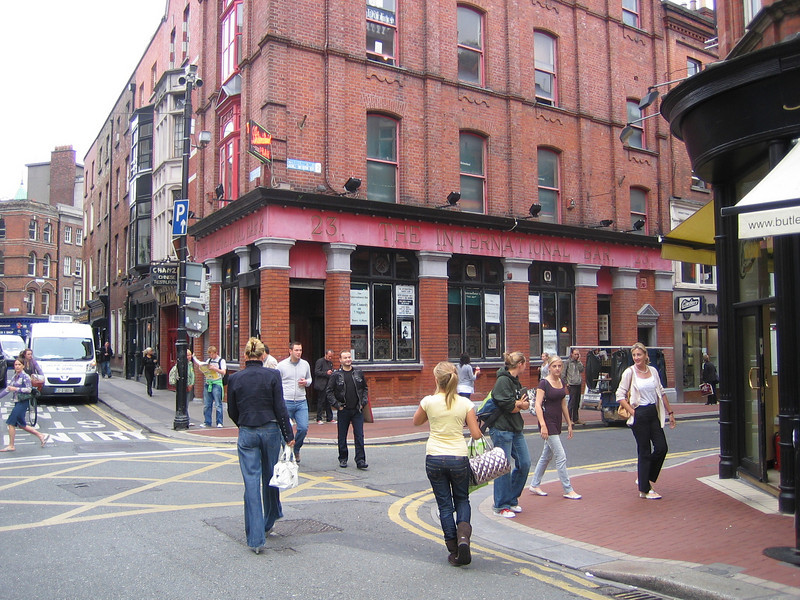 We saw some really funny comedy here at the International Pub in downtown Dublin.