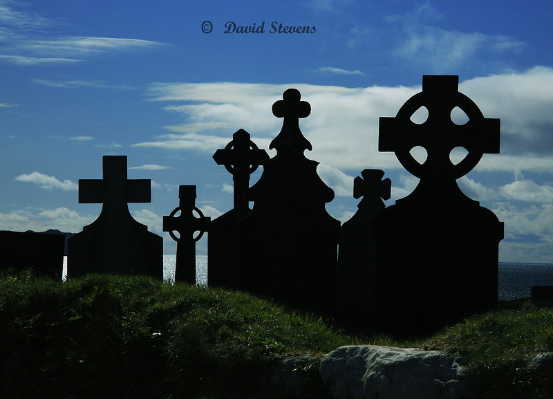 Irish Crosses, Baera Penninsula, Ireland