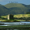 Castle and Horses near Oban, Scotland<br /> Firth of Lorne