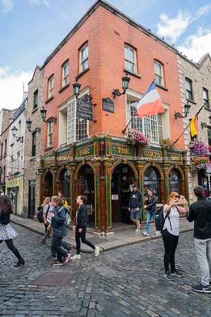 Temple Bar district Dublin.