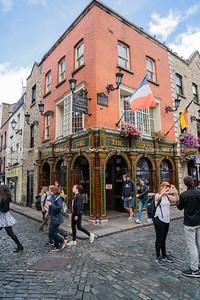 Temple Bar district Dublin.