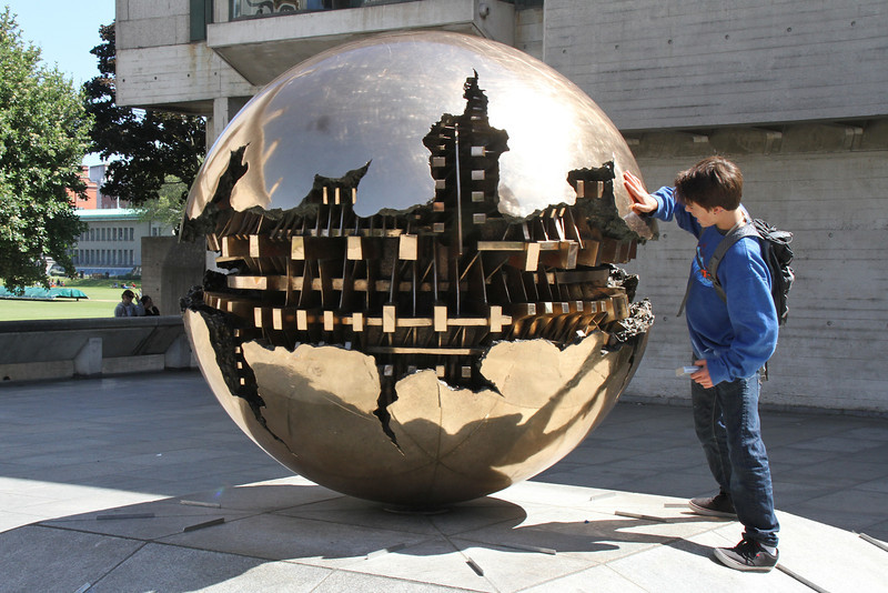 "Trinity College, Dublin. Arnaldo Pomodoro ""Sphere within a sphere""."