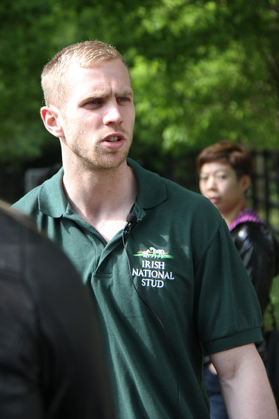 Our tour guide at Irish National Stud.  I'll be he likes wearing the shirt...