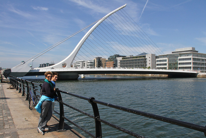The Samuel Beckett Bridge over the River Liffey.  Near our hotel in Dublin.