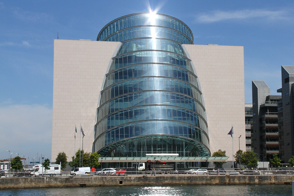 The Convention Center, Dublin.  Facing the River Liffey
