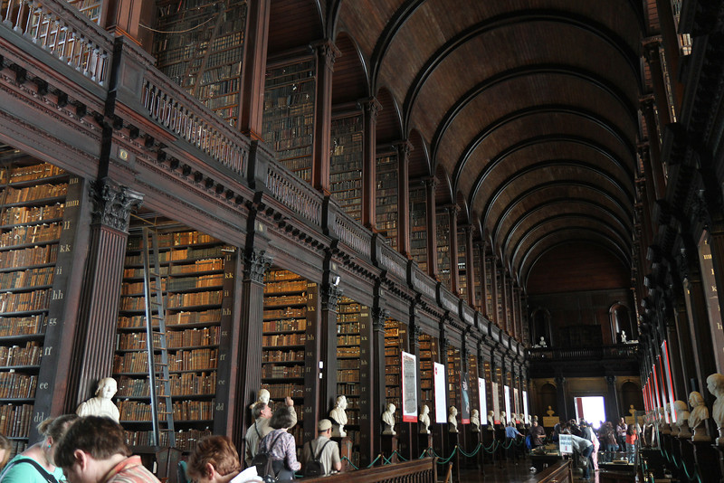 Trinity College, Dublin.  Largest library in Ireland.