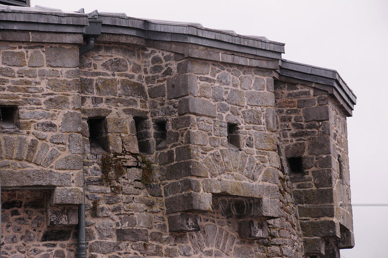 Close-up view of Athlone Castle Keep