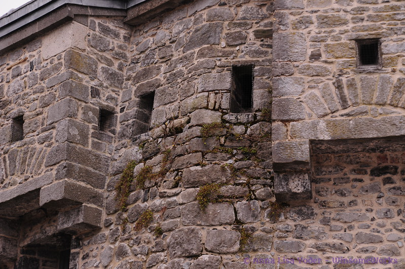 Close-up of stones in Athlone Castle Keep