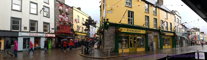 Mainguard St. in the Latin Quarter of Galway city