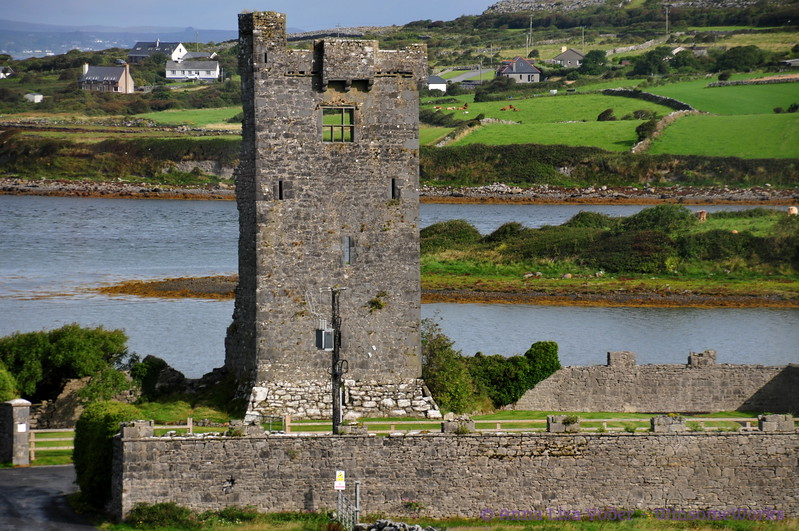 Shanmuckinish Castle ruins near Ballyvaughan on Galway Bay, County Clare