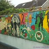 Mural seen from train near Dublin