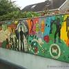 Mural seen from train near Dublin