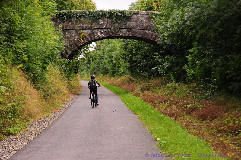 Nephew biking on the Rail Trail in Athlone