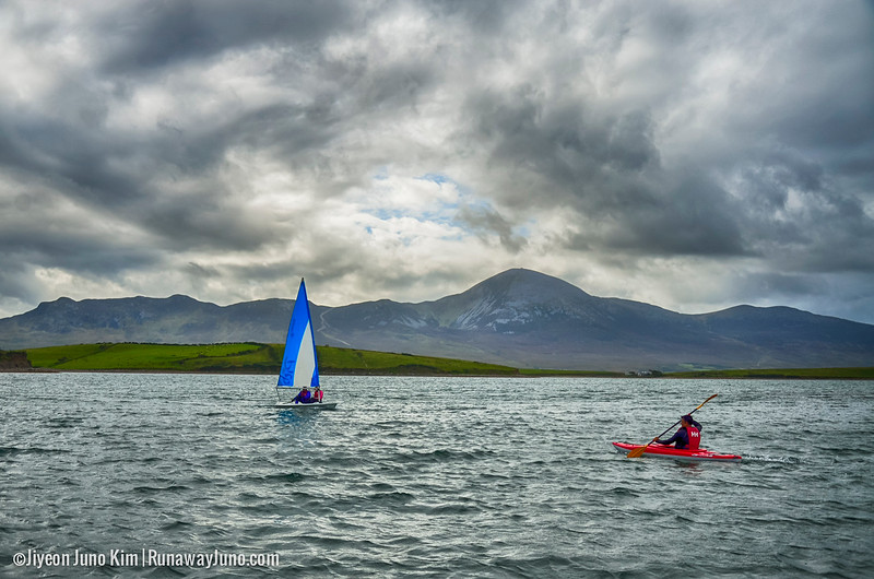 Enjoying the seasports with the view of Croagh Patrick