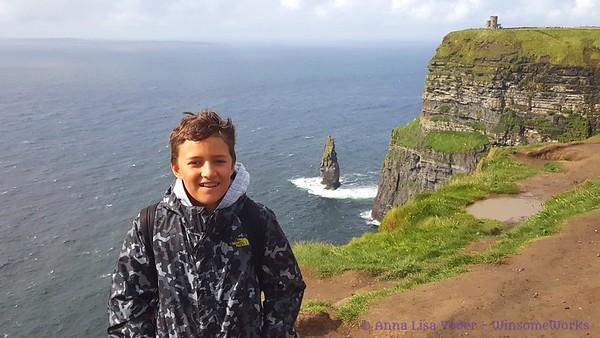 Nephew at the Cliffs of Moher