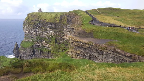 Cliffs of Moher in County Clare (West part of the Irish Republic), looking North