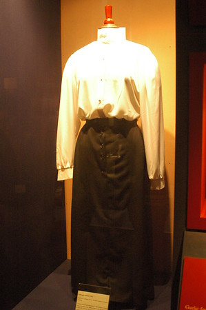 This a uniform that women used to wear when playing