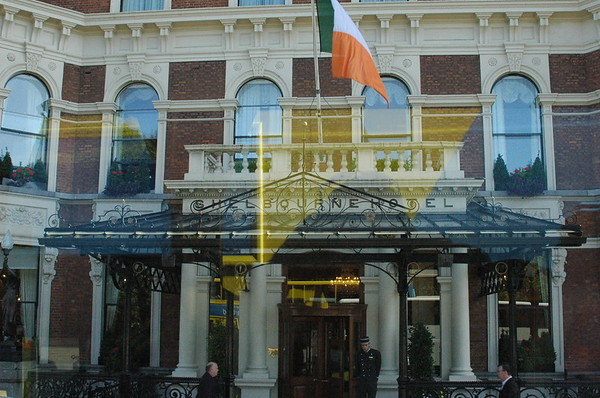 One of the area's biggest hotels - the Shelbourne Hotel.