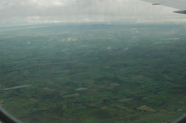 Our first view of Ireland!  It really is a green as I expected.