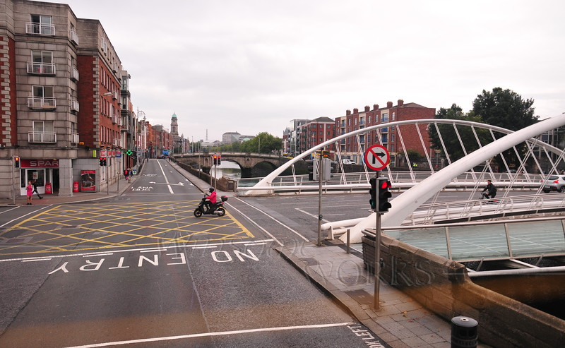 Ellis Quay with Bridge designed by Calatrava