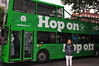 "Nephew by the ""Hop On Hop Off"" bus - nice way to see Dublin"